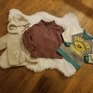 3 Baby boy sweaters sz 18m and 18-24m